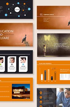 브로슈어형 교육,복지2 PPT 패키지(회사소개서, 보고서, 제안서, 기획서, 심플)