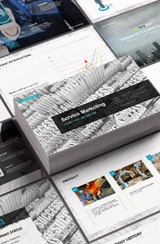 브로슈어형 서비스,마케팅1 PPT 패키지(회사소개서, 보고서, 제안서, 기획서, 심플)