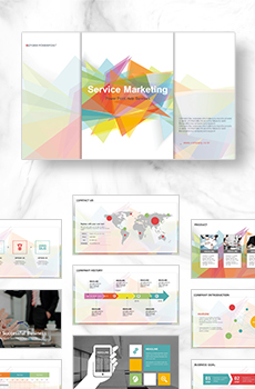 브로슈어형 서비스,마케팅2 PPT 패키지(회사소개서, 보고서, 제안서, 기획서, 심플)