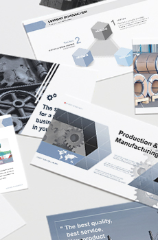 브로슈어형 제조,생산3 PPT 패키지(회사소개서, 보고서, 제안서, 기획서, 심플)