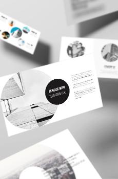 미니멀형 둥근포토 PPT 패키지(사업계획서, 회사소개서, 보고서, 기획서)