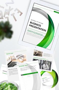 <b>브로슈어형</b> 제조, 생산4 PPT 패키지(회사소개서, 보고서, 제안서, 기획서, 심플)
