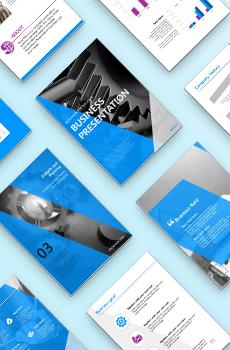 <b>브로슈어형</b> 제조, 생산3 PPT 패키지(회사소개서, 보고서, 제안서, 기획서, 심플)